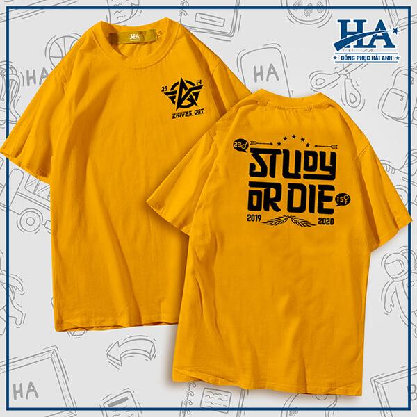 "Slogan áo lớp chuyên Anh ""Study or Die"""