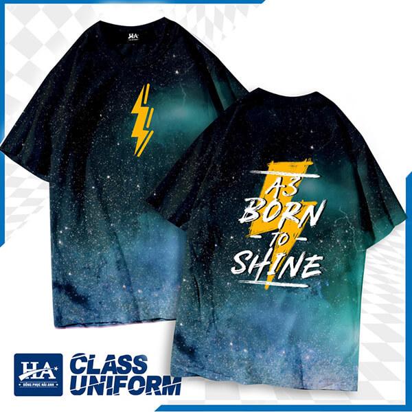 "Slogan áo lớp hay tiếng Anh ""A3 Born to shine"""