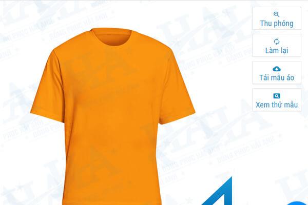 Giao diện bên phải màn hình trang web tự thiết kế áo lớp hải anh