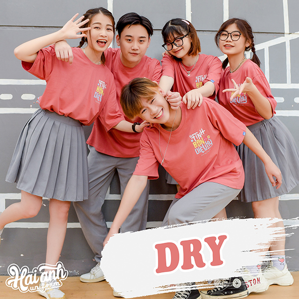 Mẫu áo lớp tình bạn màu bã trầu - Dry