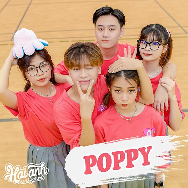 Mẫu áo lớp tình bạn màu hồng đất - Poppy