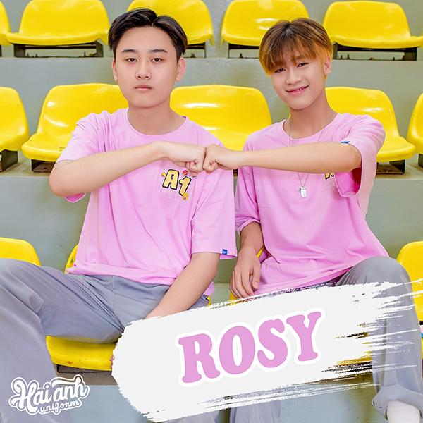 Mẫu áo lớp tình bạn màu tím hồng - Rosy