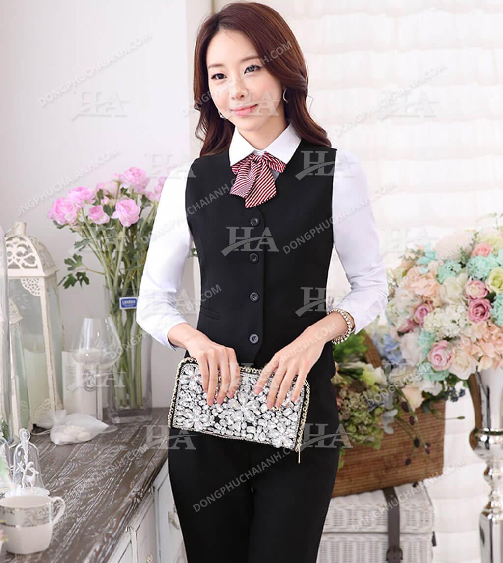 đồng phục áo gile nữ công sở đẹp 02