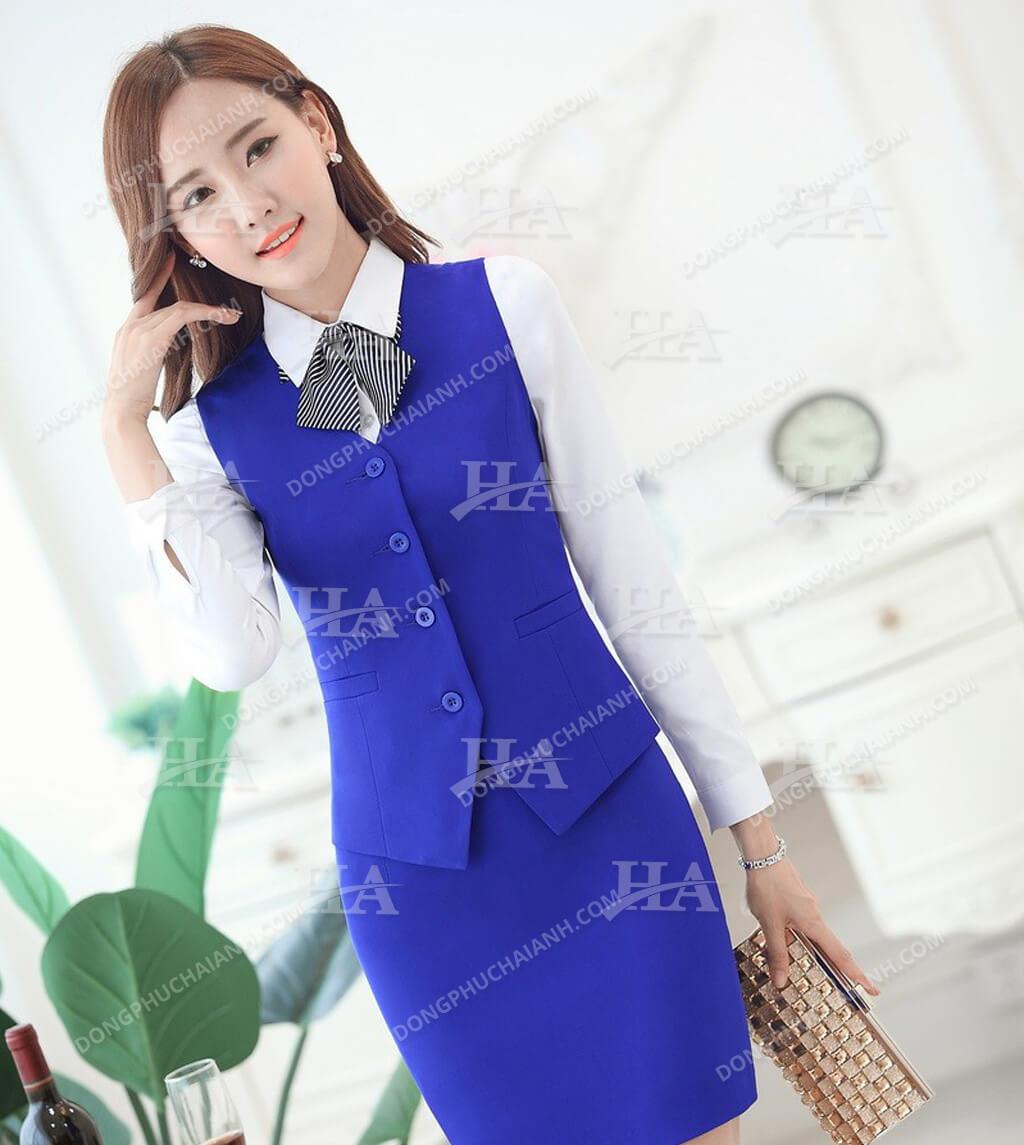 đồng phục áo gile nữ công sở đẹp 05
